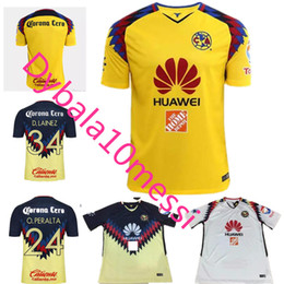Wholesale Professional Football - Top 17 18 La Liga Mexican Club American Professional Football Club 2018 Matthews Lyon Quintero O.PERALTA DOMINGUEZ Camiseta Club American Fo