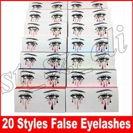 Wholesale models hair extensions - False Eyelashes 20 model Eyelash Extensions handmade Fake Lashes Voluminous Fake Eyelashes For Eye Lashes Makeup