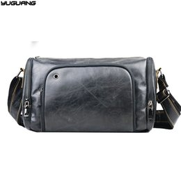 4fd42b24a335 Cowboy Fashion Genuine Leather Men Messenger Bag Vintage Design Pillow Bags  men horizontal casual Travel Crossbody bags