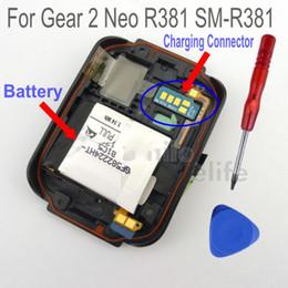 8edee29ad10 Original preto r381 tampa traseira habitação case traseira com conector de  carregamento r381 bateria para samsung gear 2 neo sm-r381 desconto caso li
