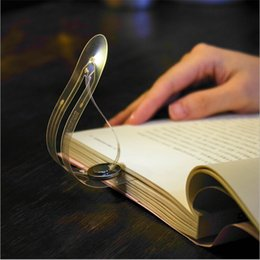 Wholesale battery reading lights - Flexible LED Book Light Mini Creative Bookmark table lamp Novelty night light Button Battery Clip-on Reading Book lights For Laptop Notebook