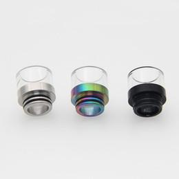 2019 limpo, claro, vidro E-XY 810 ponta de gotejamento limpar ponta de gotejamento de vidro limpo 810 Vape acessório Driptip apto para Atomizador RDA RBA tanque limpo, claro, vidro barato