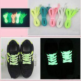 Merletti in nylon online-1 paio 32 '' Luminous Glow In Dark Lacci per scarpe da ginnastica per scarpe sportive