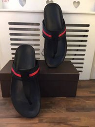 Wholesale Customized Sandals - 2018 new men's shoes top high-end customized luxury brand fashionable casual leather comfortable breathable men black striped sandals.