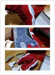 Wholesale Slip Basketball Shoes - 2017 sell hot Discount Win Like Retro 11 Chicago gym red Basketball Shoes wholesale Athletic Sport Sneakers unisex size 36-47 free ship