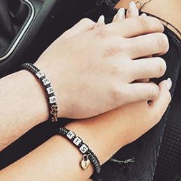 2019 enamorado regalos novia 2pcs / 1 Set Couples Bracelet, Lovers Bracelet, His Hers Gift personalizado, Key lock, Boyfriend Girlfriend Jewelry enamorado regalos novia baratos