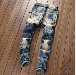 2019 calca jeans Herrenjeans hochwertige Jeans Slim Fit gerades Bein Jeans zu Herren Stretch Calca Homens Para Straight Ripped Hosen 2018 günstig calca jeans