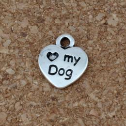encantos do ofício do cão Desconto 300 pcs Amor Coração 9.5x12mm DIY Mini