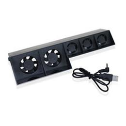 Frete grátis 100% original usb super cooler fan cooler externo temperatura turbo controle para ps4 máquina de jogo usb refrigeração de Fornecedores de dissipador de calor de prata