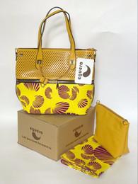 e70533b6e los bolsos y los bolsos del partido de la tela de la cera africana amarilla  para las mujeres 2017 cera holandesa garantizada de alta calidad imprime la  tela ...