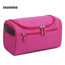 hanging waterproof cosmetic bags Coupons - SHUSHIRUO Waterproof Female Hanging Cosmetic Bag Nylon Travel Organizer Cosmetic Bag for Male Makeup Case Wash Toiletry HZ05