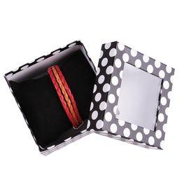 Colliers bijoux abs en Ligne-Haute qualité dot bijoux boîte d'emballage Pour Bracelet ABS Collier Montres Boîtes à Bijoux 9 * 6 cm Livraison gratuite