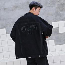Винтажные бренды одежды онлайн-Мужчины Джинсовые Куртки Дизайнер Куртка Женщины Винтажный Стиль Кромки Жан Пальто Модный Бренд Одежды Джинсовые Пальто