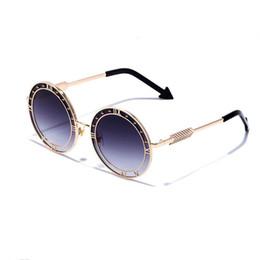 Wholesale sunglasses golden arrows - 2018 New Luxury Brand Designer Round Sunglasses Women Men Retro Arrow Sun Glasses Female Adumbral Oculos de Sol