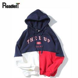 Wholesale Mens Hoddies - Mens Fashion Patchwork Fleece Hoodies Sweatshirt Men Hip Hop Streetwear Loose Oversized Hoddies Men Tracksuit Anime Casual Hoody
