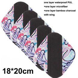 Canada Doublure de culotte en tissu de charbon de bambou réutilisable, Imprimer PUL Femmes Hygiène Féminine Hygiène Menstruelle Serviette Serviettes En Gros Offre