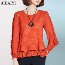 f211a782dcac3 Discount long chic blouses black - Vintage chiffon blouse spring 2018 long  sleeve shirt women s tops