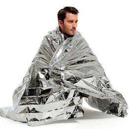 Wholesale Space Blankets Wholesale - High Quality 1.4m x 2.1m Portable Waterproof Emergency Space Rescue Thermal Mylar Blankets Free Shipping