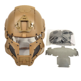 2019 casco militar del ejército 2018 Nuevo Diseño Ballistic Tactical Helmet Side Rail NVG Shroud Transfer Base Dial Perilla Aire libre Deporte Army Combat Airsoft Paintball rebajas casco militar del ejército