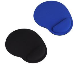 Настольная мышь онлайн-Дешевые мини-игровой коврик для мыши Gamer Mousepad Wrist Rest Support Comfort Mice Pad Mat для настольного компьютера Black / Blue Color LLFA