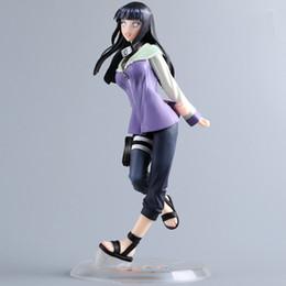 Figuras de gemas online-Nuevo diseño 22 cm figura de anime clásico Naruto Hinata figura de acción Megahouse gema Hinata Hyuga Pvc figura juguetes Naruto Byakugan