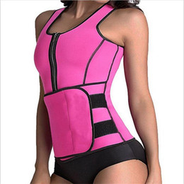 Wholesale Super Slim Waist - 2018 Neoprene Sauna Suit Tank Top Vest Waist Trimmer with Adjustable Waist Trainer Belt Slim Waist Super Quality For Lost Weight
