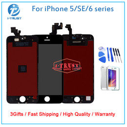 Wholesale Iphone Screen Free Shipping - Grade A+++ LCD Or Display For iPhone 5 5S 5C SE Or 6 6s 6 Plus 6S Plus Touch Screen Digitizer With free tools +Free DHL Shipping
