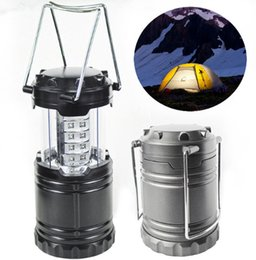 wiederaufladbare magnetische lampe Rabatt Wandern Camping Outdoor Gear New Lager Lampe 30LED Camping Lampe im Freien super helle Lagerzelt Lampe automatische Zug Licht