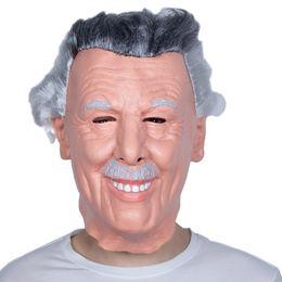 Máscara humana completa online-Old Man Famous Human Mask Latex Halloween Full Head disfraces máscaras de disfraces envío gratis