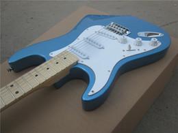 Бренд гитары фарфора онлайн-Электрогитара новая левая рука ST синий цвет oem Марка электрогитара / гитара в Китае
