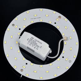 Tablero de panel redondo llevado online-Plato de luz de techo placa de fuente de luz 18W 24W 36W LED PANEL SMD 5730 cálido frío blanco Placa de adaptación LED Lámpara redonda