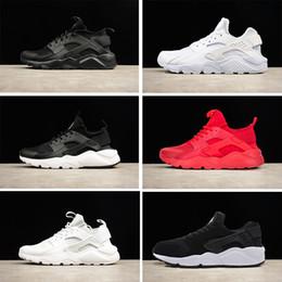 Wholesale Online B - 2018 New Air huarache 1 4 triple white black huarache men & women running shoes Trainers sports sneaker For online hot sale US5.5-11