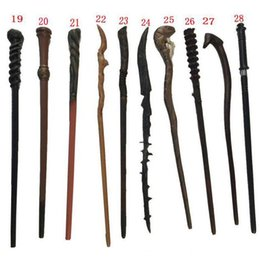 Wholesale Holidays Packs - DHL Hot Cosplay 28 Styles Hogwarts Potter Series Magic Wand New Upgrade Resin With Metal Core Wand Party Favor Gifts Box Pack WX9-410