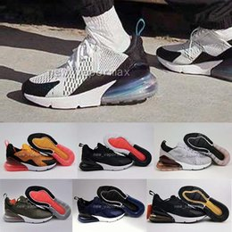 Wholesale Nano Green - Wholesale 270 Mens Flair Triple White Black orange 270 Nano Kpu Trainer Running Shoes Womens Training 27C Sports Sneakers Shoes