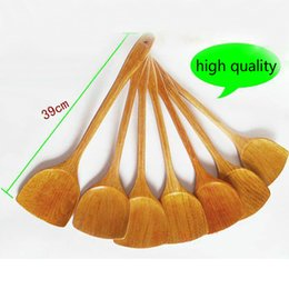 Wholesale kitchen utensils bamboo - Kitchen Cooking Tool Natural bamboo tools Non stick Cooking Turner Shovel bamboo utensil