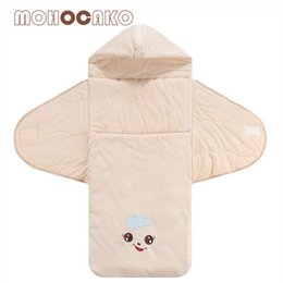 Wholesale thicken baby sleeping bag - MOHOCAKO Naturally Colored Cotton Newborn Baby Sleeping Bag Winter Zipper Thickening Organic Cotton Infant Warm Sleeping Bags