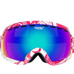 одиночные палочки Скидка Лыжные очки один двухслойный застрял близорукость объектив ветрозащитный анти-туман анти-УФ анти-блики лыжные очки дети