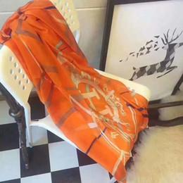 Canada 2018 livraison gratuite nouvel arrial H femelle angleterre foulard en soie pour femmes Designer femme carré été foulards Wraps 180 * 90 cm cheap square scarves for women Offre