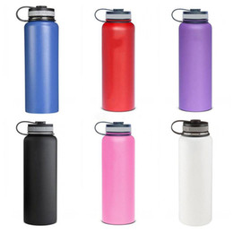 Wholesale warm metal - 32oz 40oz Vacuum water bottle Insulated 304 Stainless Steel Water Bottle Wide Mouth big capacity