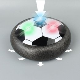 Wholesale Football Floats - Colorful LED Light Flashing Ball Toys Air Power Soccer Disc Gliding Floating Football Game Indoor Toy Kids Christmas Gift Toys