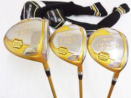 Set di 4 stelle Honma S-06 Set di legno Honma S-06 Brand New Golf Club Driver + Fairway Woods Graphite Shaft With Head Cover da