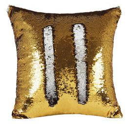 Canada 2018 Sequin PillowCase Sequins Coussins Housse Oreiller Réversible Coussin De Voiture Canapé pour Office Home Decoration Offre