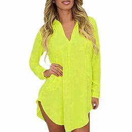 3c15bf45566 Wholesale- 6XL Sheer Chiffon Blouse 2017 Plus Size Women Clothing Long  Sleeve Autumn Brand Shirt Casual Loose Oversized Top Chemise Femme