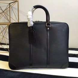 Wholesale Top Brand Men Business Bag - 2017 High qualit brand classic luxury business men shoulder bags casual genuine leather bag design top quality men's bag