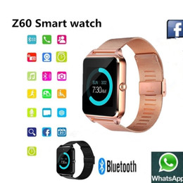 дешевые часы bluetooth smart Скидка Смарт BluetoothZ60 часы со светодиодным дисплеем / циферблат / SMS напоминание / музыкальный плеер Pedoeter носимых устройств для Apple Iphone IOS Android Mob