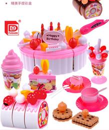Wholesale Pretend Birthday Cake - Kids Kitchen Play Set Toys 73pcs Set Pretend Play Girs Kitchen accessories Set Birthday Cake Toys Frutas De Brinquedo