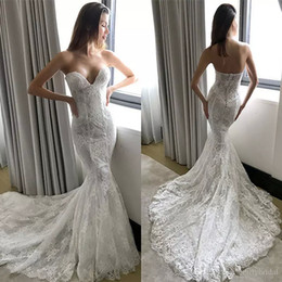 lace couture backless wedding dresses Coupons - Pallas Couture Lace Mermaid Wedding Dresses Plus Size Backless Bridal Gowns Sweep Train robe de mariée Wedding Dress