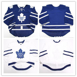 Wholesale Ice Hockey Goalie Jersey - Cheap wholesale custom TORONTO MAPLE LEAFS HOME AWAY EDGE 2.0 7287 JERSEY GOALIE CUT 58 ISSUED Mens Stitched Personalized hockey Jerseys