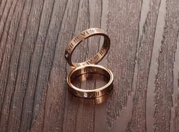 2019 meninas anéis dedo tamanho Meninas das mulheres Moda Metal Cooper Dedo Anel Com Diamante Romano Numeral Anel, Rosa de Ouro / Prata, tamanho 5-9 desconto meninas anéis dedo tamanho