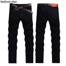 Wholesale men jeans china - 2016 Hot Sale Biker Jeans Men Casual Black Denim Straight Design Pants Cheap Clothes China Brand Clothing Fog Jeans homme